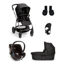 Sola² - 5 Piece - Pushchair + Carrycot + Cup Holder + Adaptors + Car Seat