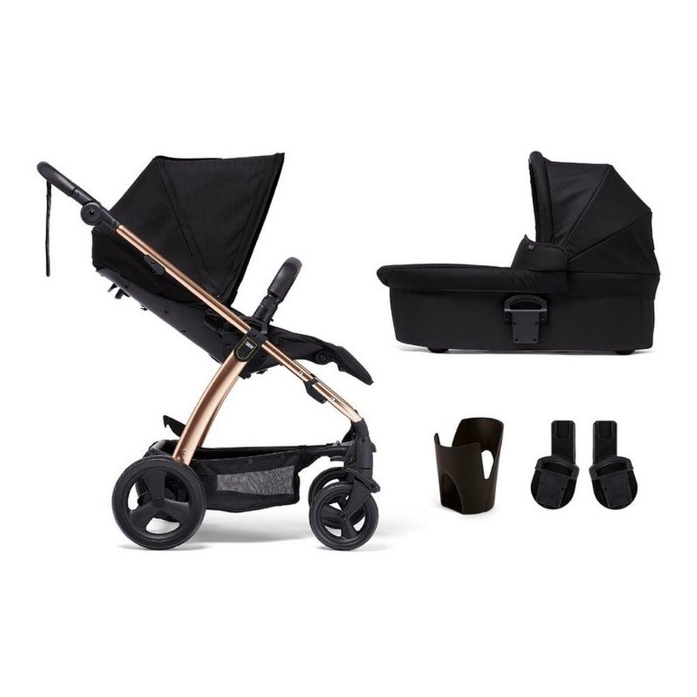 Mamas Papas Sola Black Rose Gold 4 Piece Pushchair Carrycot Cup Holder Adaptors Prams Pushchairs From Pramcentre Uk