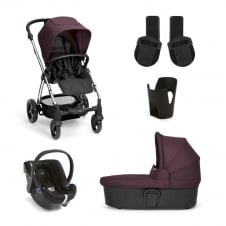 Sola² - Mulberry 5 Piece - Pushchair + Carrycot + Cup Holder + Adaptors + Car Seat