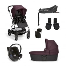 SolaŒ² - Mulberry 6 Piece - Pushchair + Carrycot + Cup Holder + Adaptors + Car Seat + Isofix Base