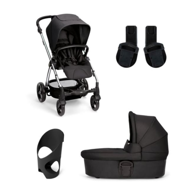 Mamas & Papas Sola2 - 4 Piece - Carrycot + Cup Holder + Adaptors