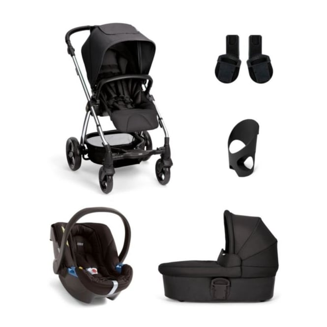 Mamas & Papas Sola2 - 5 Piece - Carrycot + Aton Carseat + Cup Holder + Adaptors