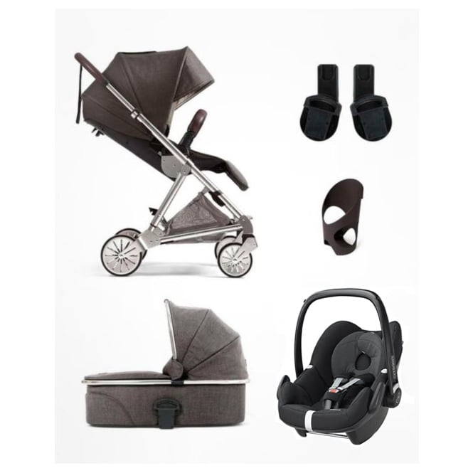 Mamas & Papas Urbo² - 5 Piece - Urbo + Carrycot + Pebble + Cup Holder + Adapters