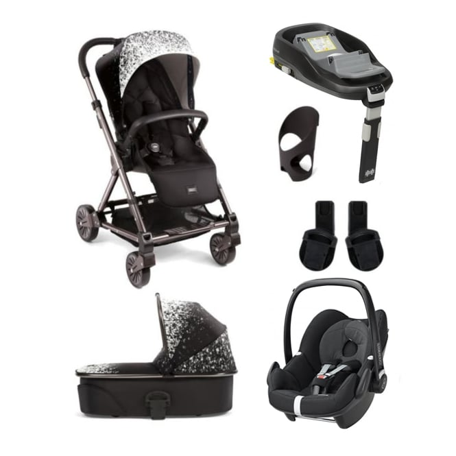 Mamas & Papas Urbo² 6 Piece - Urbo + Carrycot + Pebble + Familyfix Base + Cup Holder + Adapters