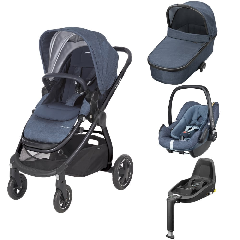 maxi cosi adorra 3in1 pebble plus 2wayfix base nomad blue prams pushchairs from. Black Bedroom Furniture Sets. Home Design Ideas