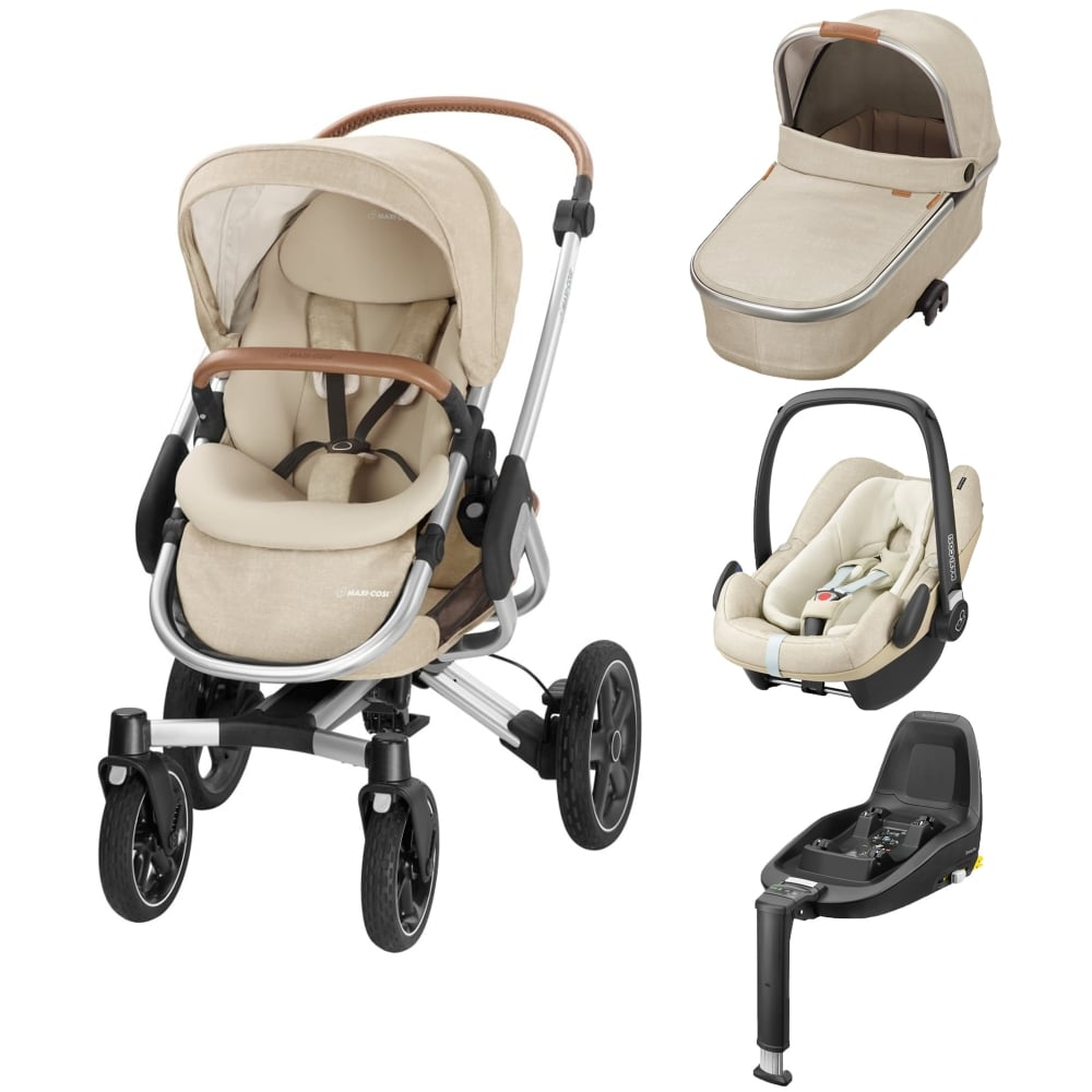 maxi cosi nova 4 wheel 3in1 pebble plus 2wayfix base nomad sand prams pushchairs from. Black Bedroom Furniture Sets. Home Design Ideas