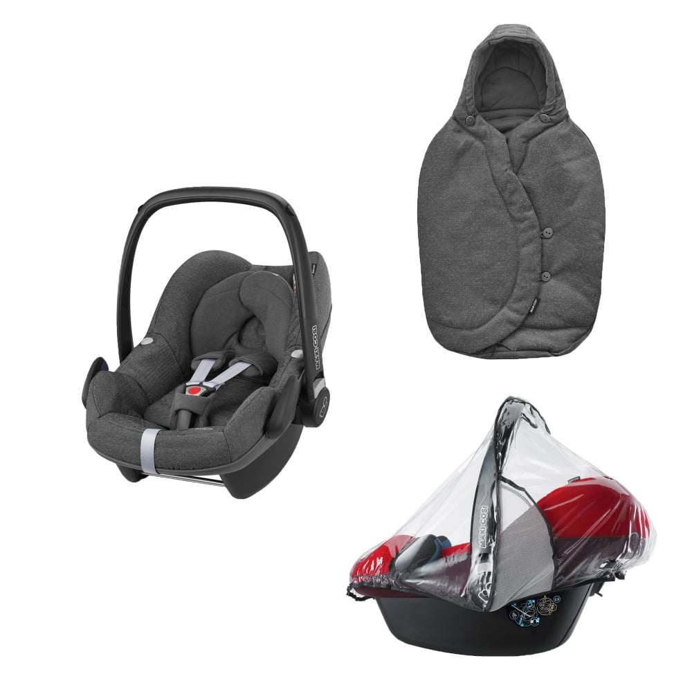 maxi cosi pebble footmuff raincover sparkling grey car seats carriers luggage from. Black Bedroom Furniture Sets. Home Design Ideas