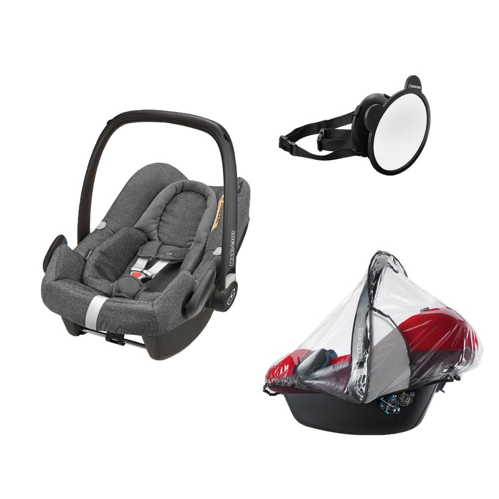 maxi cosi rock mirror raincover sparkling grey car. Black Bedroom Furniture Sets. Home Design Ideas