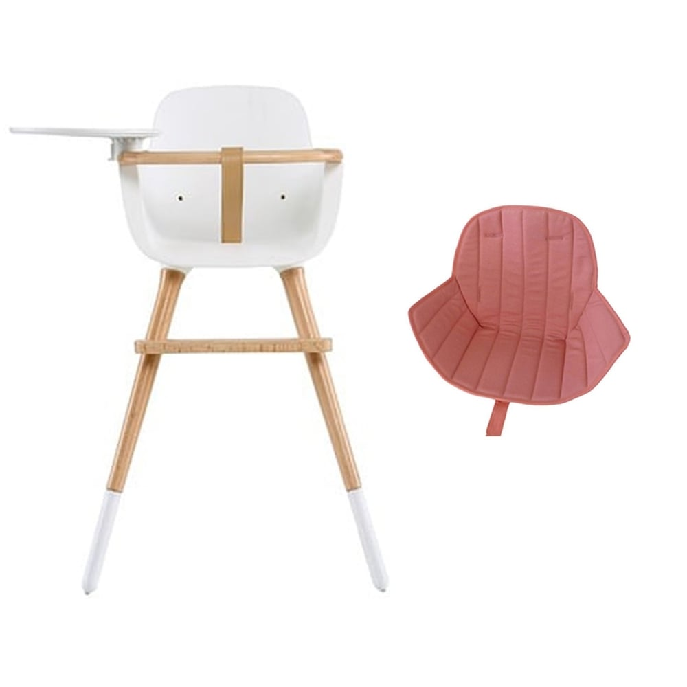 Micuna OVO Luxe High Chair With Leatherette Harness   Pink