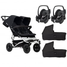 Duet + 2 Carrycots & 2 Pebbles - Black