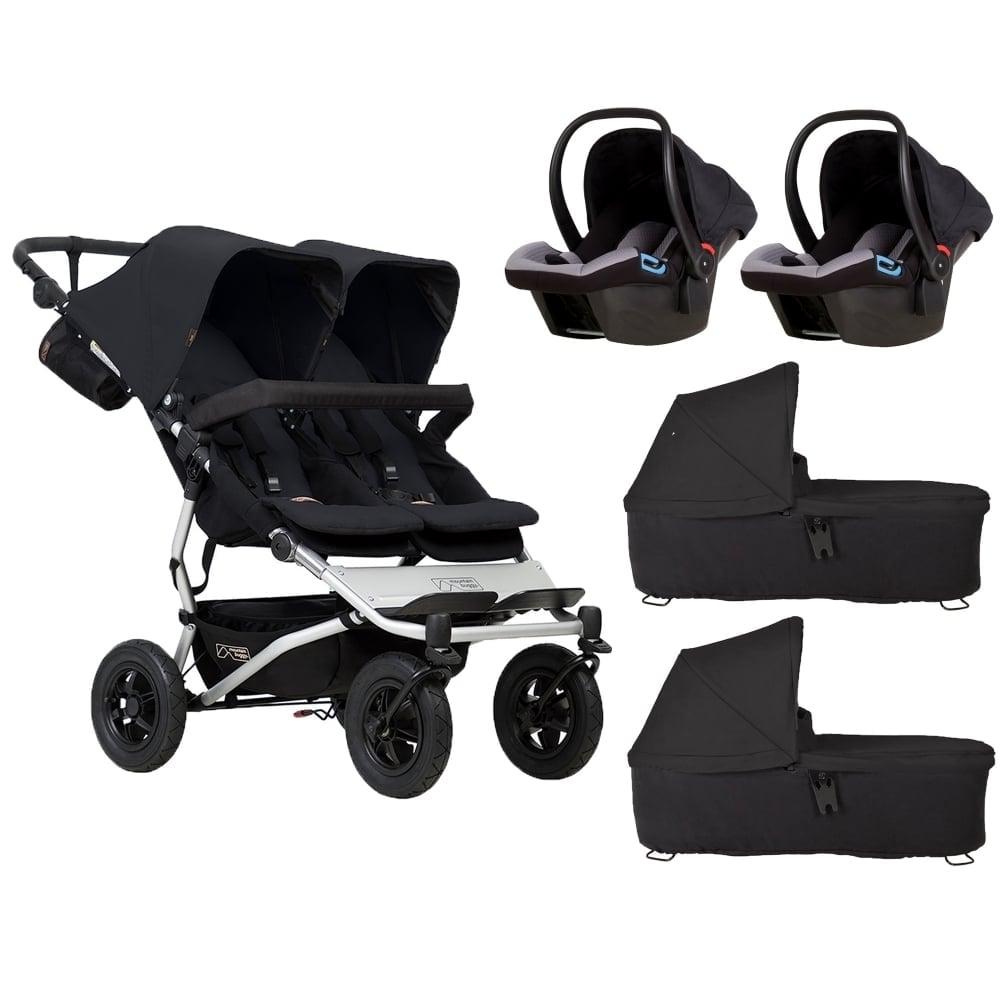 Mountain Buggy Duet 2 Carrycots 2 Protect Car Seats Black