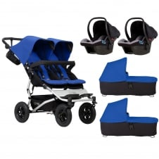 Duet + 2 Carrycots & 2 Protect Car Seats