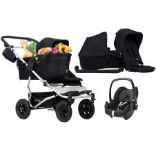 Duet As A Single + Family Pack & Pebble Car Seat - Black