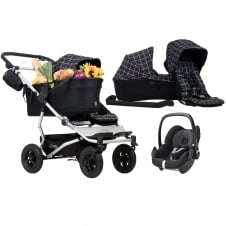 Duet As A Single + Family Pack & Pebble Car Seat - Grid