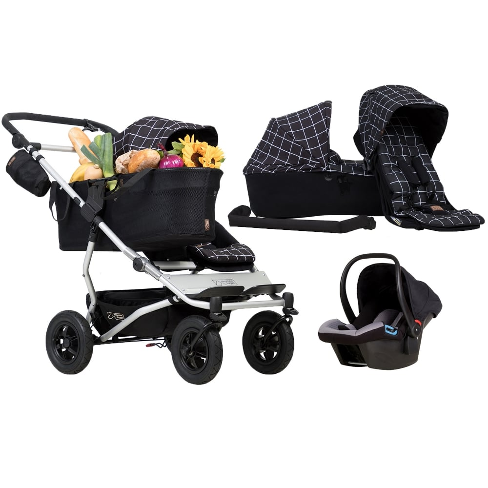 Mountain Buggy Duet As A Single + Family Pack & Protect Car Seat ...