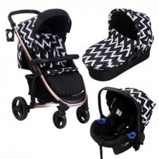MB200+ Rose Gold Travel System - Chevron