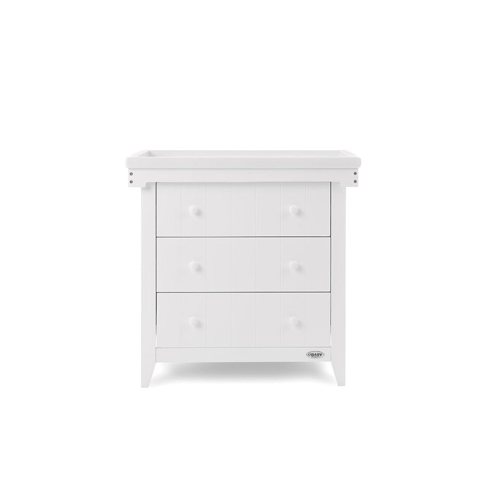 72d2e13ccca4 Obaby Belton Chest of Drawers - White - Cots, Cot Beds & Furniture ...