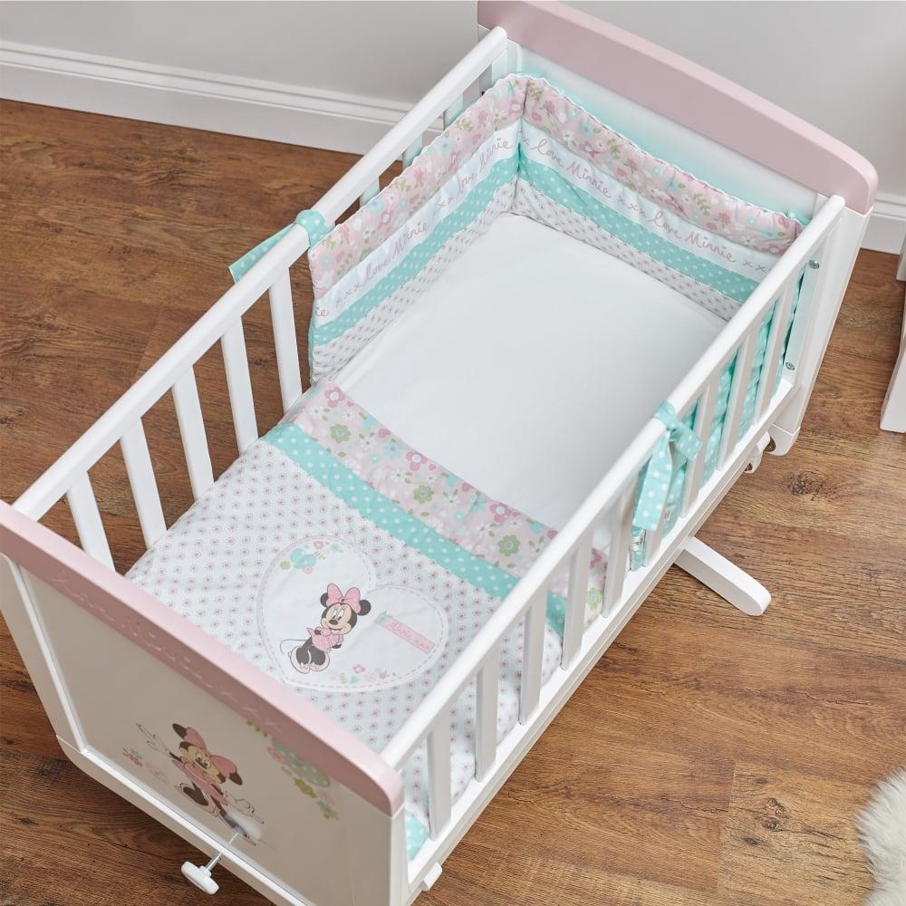 Obaby Disney Minnie Mouse 3 Piece Crib Set Nursery Moses Baskets