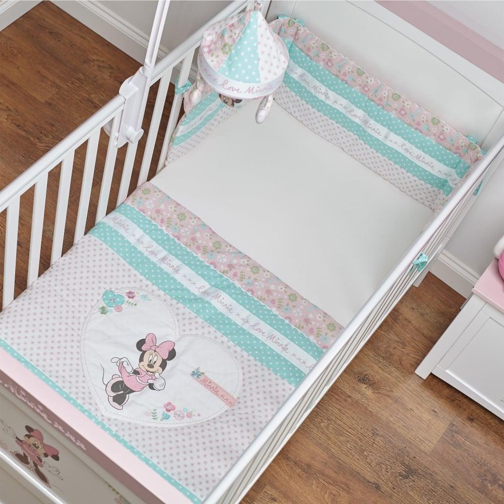 Obaby Disney Minnie Mouse Quilt Bumper Set Bedding Nursery