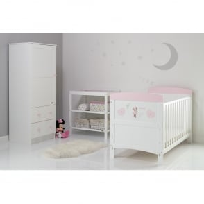 Obaby Minnie Mouse 2 Piece Room Set - Hearts - Cots, Cot Beds ...
