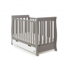 Stamford Mix n Match Mini Cot Bed - Taupe with White