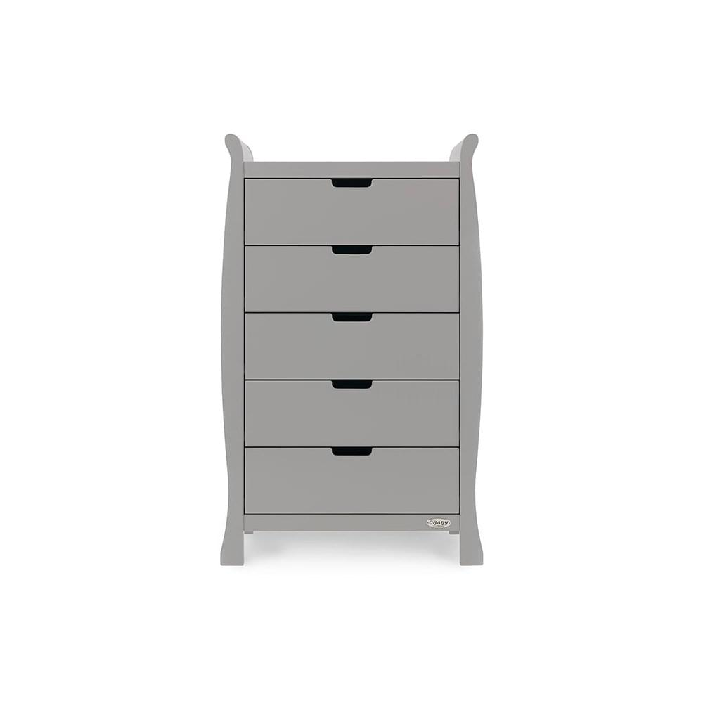12dc6dce7050 Obaby Stamford Sleigh Tall Chest of Drawers - Warm Grey - Cots, Cot ...