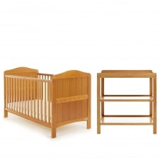 Whitby 2 Piece Room Set - Country Pine