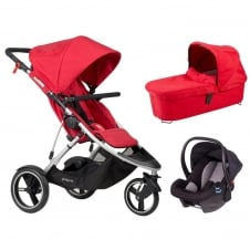 Dash 3in1 + Alpha Car Seat - Red