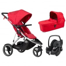 Dash 3in1 + Pebble Car Seat - Red