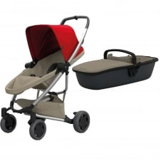 Zapp Flex Plus + Carrycot - Red on Sand
