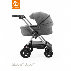 Scoot™ Black Melange + Carrycot - Black Melange