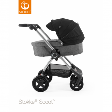Scoot™ Black Melange + Carrycot - Black