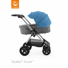 Scoot™ Black Melange + Carrycot - Blue