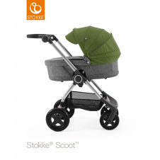 Scoot™ Black Melange + Carrycot - Green