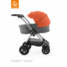 Scoot™ Black Melange + Carrycot - Orange