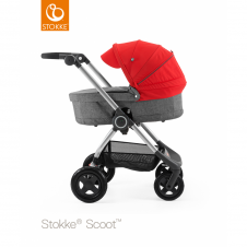 Scoot™ Black Melange + Carrycot - Red