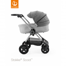 Scoot™ Grey Melange + Carrycot - Black Melange