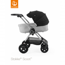 Scoot™ Grey Melange + Carrycot - Black