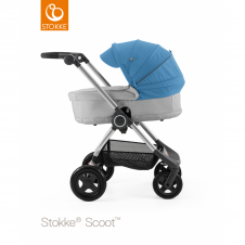 Scoot™ Grey Melange + Carrycot - Blue