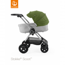 Scoot™ Grey Melange + Carrycot - Green