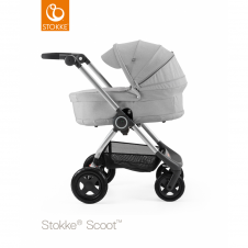 Scoot™ Grey Melange + Carrycot - Grey Melange