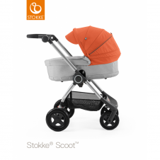 Scoot™ Grey Melange + Carrycot - Orange
