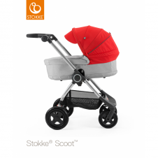 Scoot™ Grey Melange + Carrycot - Red