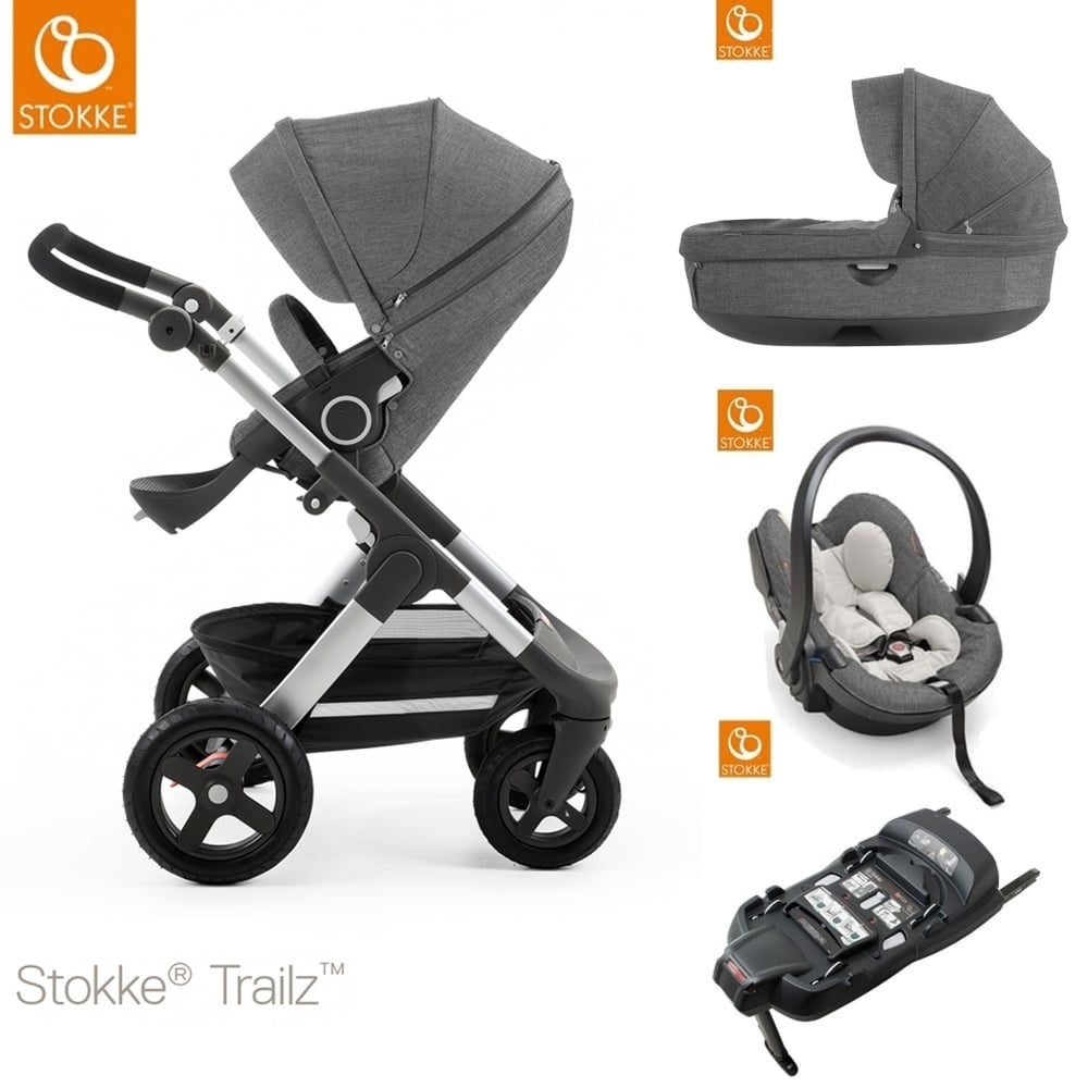 stokke trailz terrain carrycot izi go modular car. Black Bedroom Furniture Sets. Home Design Ideas
