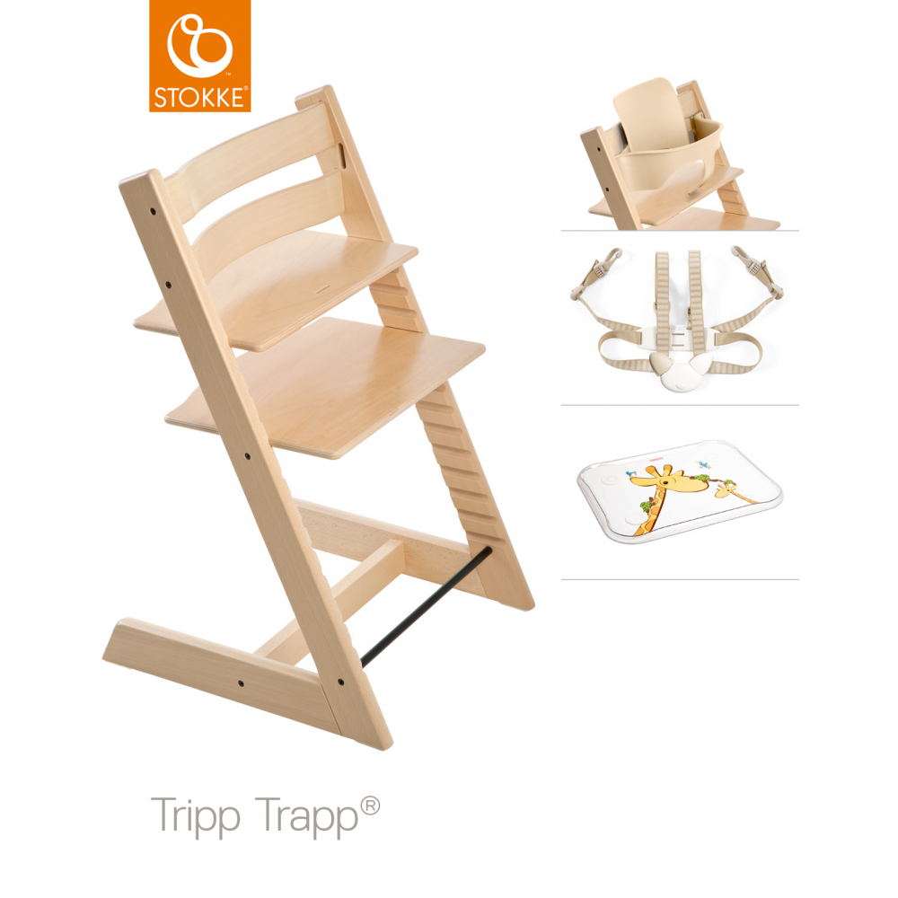 Stokke® Stokke Tripp Trapp + Accessory Set & Table Top - Natural ...