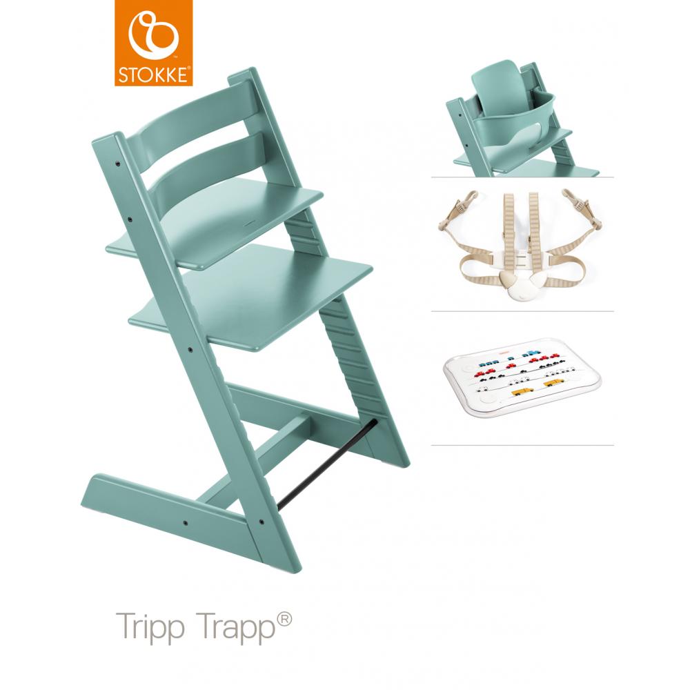 Stokke® Stokke Tripp Trapp + Accessory Set & Table Top - High ...