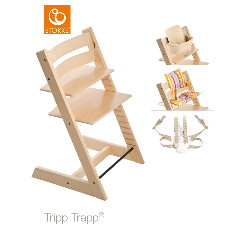 highchairs classic natural new brand trapp childrens stokke chair tripp com baby dp amazon wood high highchair
