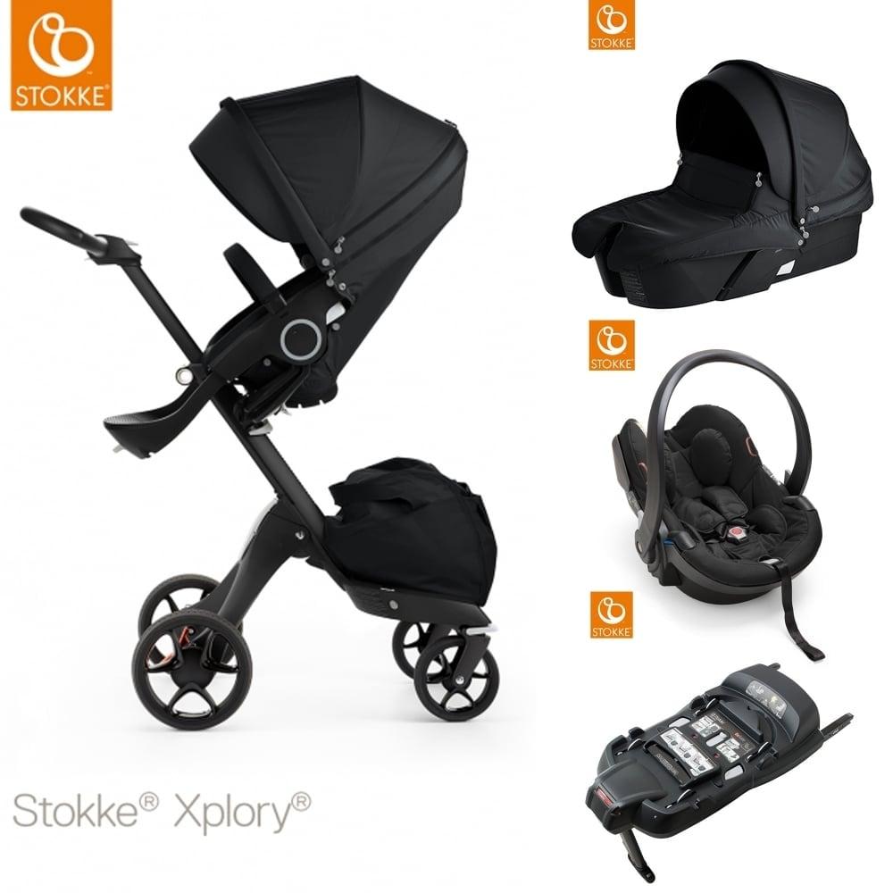 stokke xplory v5 black carrycot izi go modular car. Black Bedroom Furniture Sets. Home Design Ideas