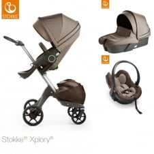 Xplory V5 + Carrycot & Car Seat - Brown