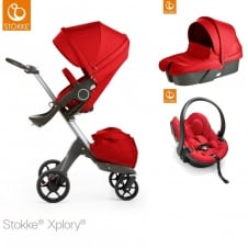 Xplory V5 + Carrycot & Car Seat - Red
